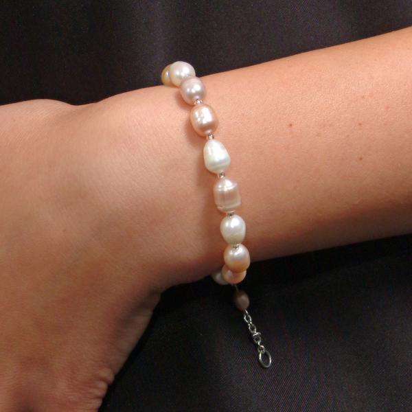 0123(C) Set bijuterii GANELLI Perle naturale de cultura -colier, bratara, cercei 1