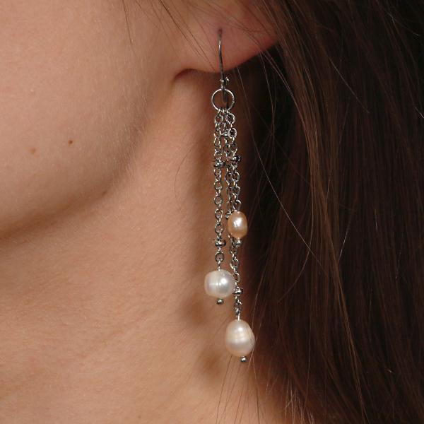 0123(C) Set bijuterii GANELLI Perle naturale de cultura -colier, bratara, cercei 3