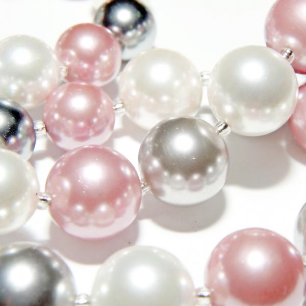 0283-argintiu Set bijuterii GANELLI Perle Mallorca- colier, bratara, cercei (argintiu-lila) 5