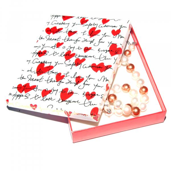 0283-aramiu Set bijuterii GANELLI Perle Mallorca- colier, bratara, cercei (roz-aramiu) 1