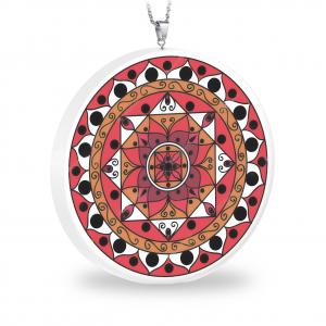 Pandantiv Ganelli Mandale India din ceramica si argint -model 1 (orange)0