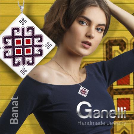 PR08 model 2-Pandantiv Ganelli motive populare romanesti din Banat [2]