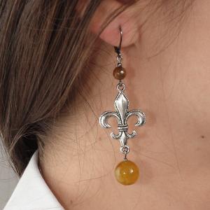 Set bijuterii GANELLI- colier lung, bratara, cercei din pietre semipretioase Agate Piatra Dragonului4