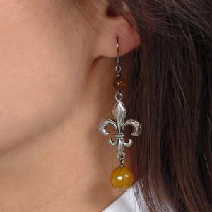 Set bijuterii GANELLI- colier lung, bratara, cercei din pietre semipretioase Agate Piatra Dragonului3
