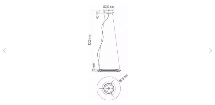 Pendul LED Concept Chrome 35W [1]