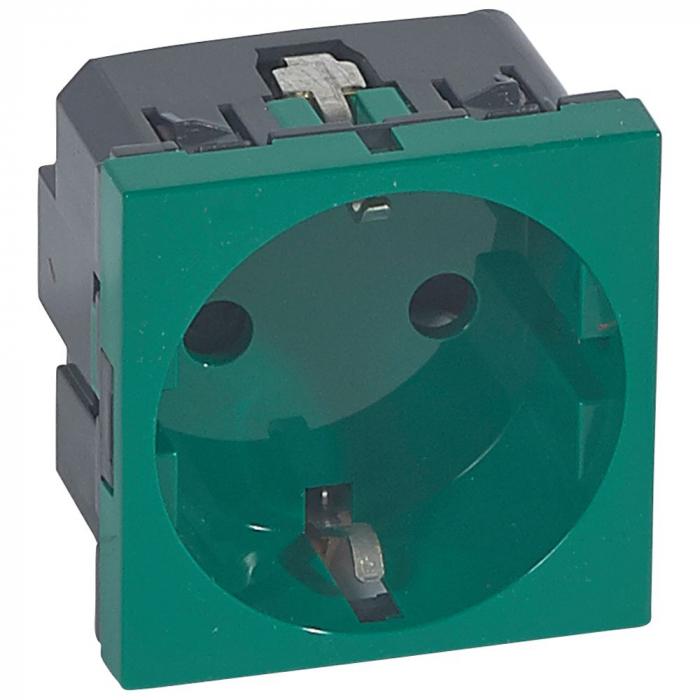 Priza Legrand Mosaic 077216, 2p+T, verde, circuite speciale [0]