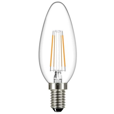BEC LED FILAMENT TRANSP 4W 400LM 3000K C35 E14 [0]