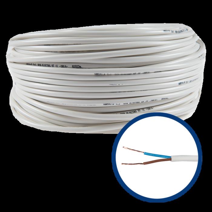Cablu electric flexibil MYYM 2X0.75 - rola 100m [0]