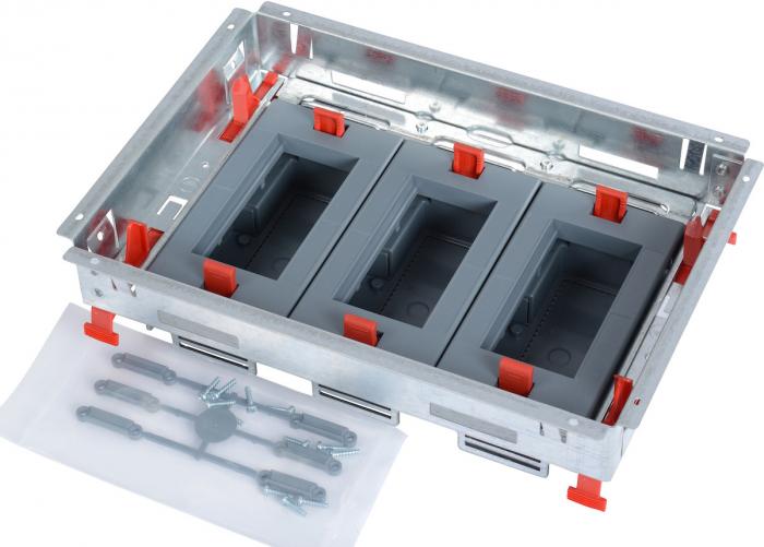 Doza Pardoseala Metalica tip Standard 12M, Suport aparataj Orizontal [0]