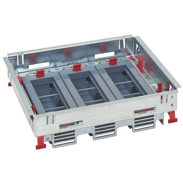 Doza Pardoseala Metalica tip Standard 18M, Suport aparataj Orizontal [0]