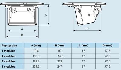 Doza Pop-Up 8 (2X4) module Aluminiu mat [3]