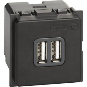 Priza USB / Incarcator 5V 3000mA 2M Bticino Living NOW Negru, Alb, Nisip K4285C2 [0]