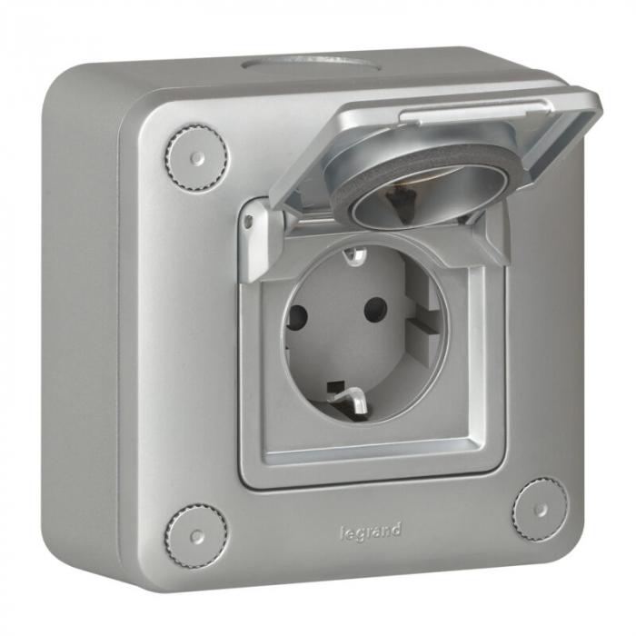 Priza metalica access 3kw - IP55-IK10 - std German 077856 [0]