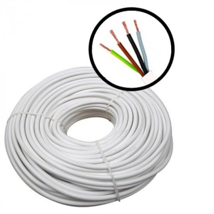 Cablu electric flexibil MYYM 5X2.5 - rola 100m [0]