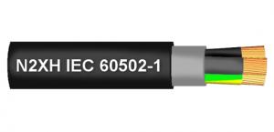 Cablu N2XH 5x1,5 mm² negru, izolatie din polietilena reticulata [0]