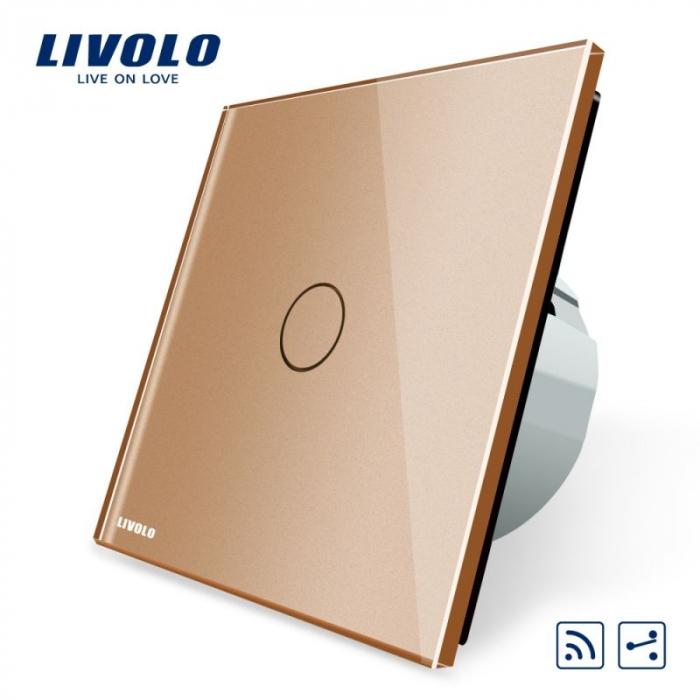 Intrerupator cap scara / cap cruce wireless cu touch Livolo din sticla [3]