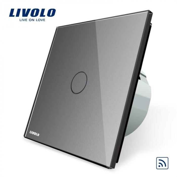 Intrerupator simplu wireless cu touch Livolo din sticla crystal [0]