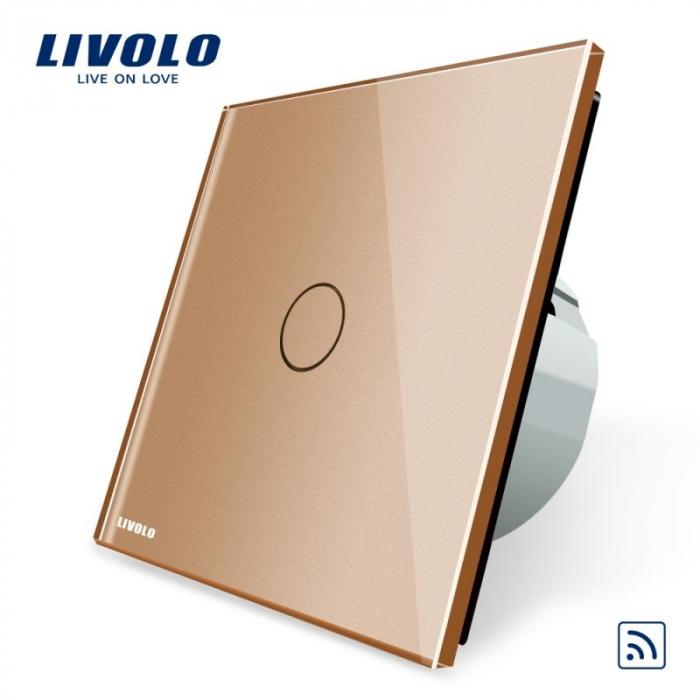 Intrerupator simplu wireless cu touch Livolo din sticla crystal [1]