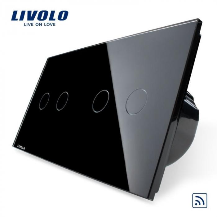 Întrerupător Dublu + Dublu Wireless cu touch [1]