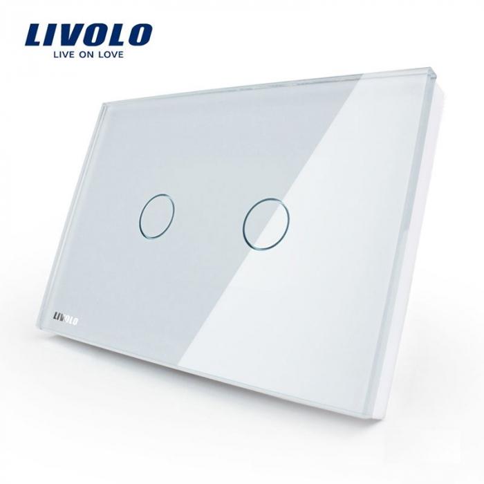 Întrerupător Dublu cu touch Livolo din sticla - LIVOLO [1]