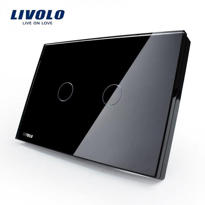 Întrerupător Dublu cu touch Livolo din sticla - LIVOLO [0]