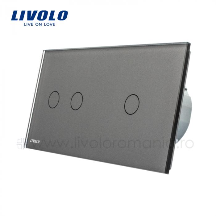 Întrerupător Dublu + Simplu Wireless cu touch livolo [2]