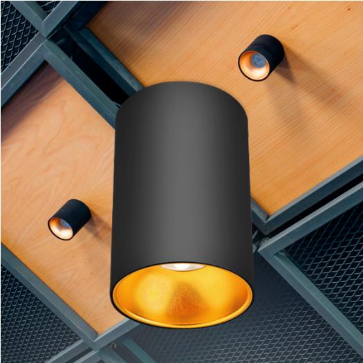 Spot aparent negru si auriu 1xGU10/1XGU5.3 IP20 [1]