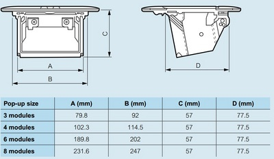 Doza Pop-Up 6 (2X3) module Aluminiu mat [3]
