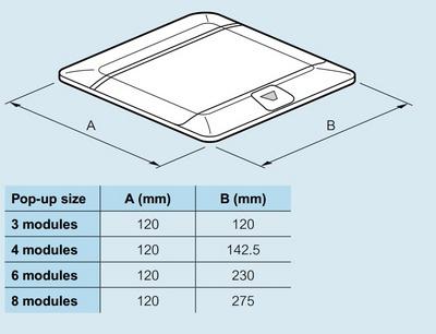 Doza Pop-Up 8 (2X4) module Inox slefuit [3]