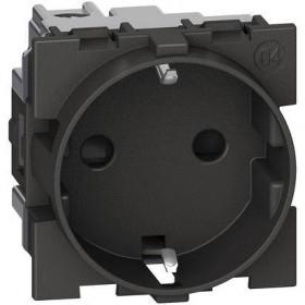 Priza schuko standard german 2P+N 16A 250V 2M Bticino Living NOW Alb KW4141 / Negru KG4141 / Nisip KM4141 [2]