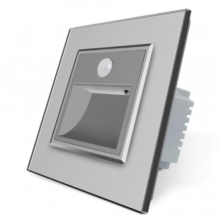 Lampa de veghe LED LIVOLO cu rama din sticla - Senzor miscare incorporat [3]