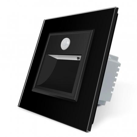 Lampa de veghe LED LIVOLO cu rama din sticla - Senzor miscare incorporat [1]