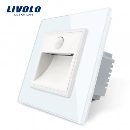 Lampa de veghe LED LIVOLO cu rama din sticla - Senzor miscare incorporat [0]