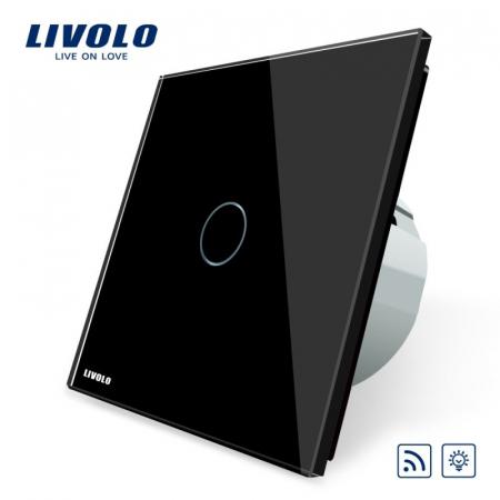 Intrerupator wireless cu variator (dimabil) cu touch Livolo din sticla [0]