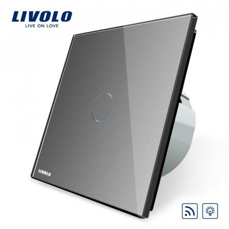 Intrerupator wireless cu variator (dimabil) cu touch Livolo din sticla [1]