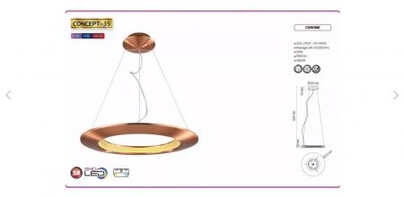Pendul LED Horoz Electric Concept-35, 35 W [2]