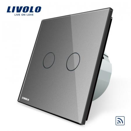 Intrerupator Dublu Wireless cu touch Livolo din sticla [3]