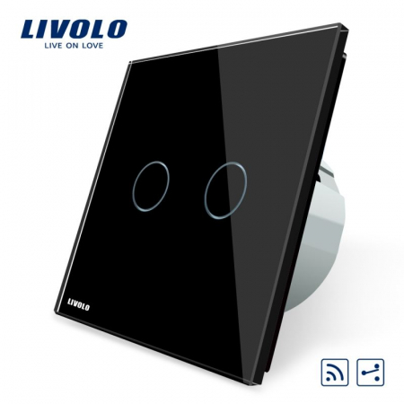 Întrerupător Dublu cap scară/ cruce wireless cu touch LIVOLO [3]