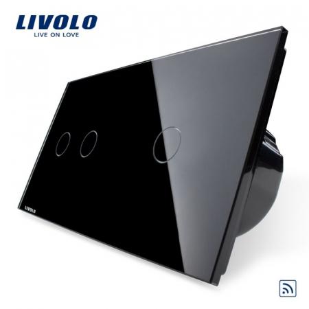 Întrerupător Dublu + Simplu Wireless cu touch livolo [0]