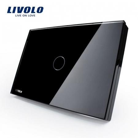 Întrerupător Simplu cu touch Livolo din sticla standard italian [1]