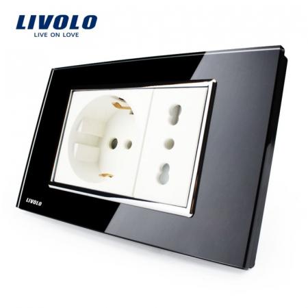 Priza Dubla Schuko + standard italian  LIVOLO [0]