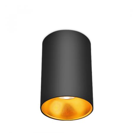 Spot aparent negru si auriu 1xGU10/1XGU5.3 IP20 [0]