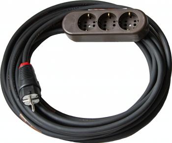 Prelungitor cu multipriza Kontavill Legrand cu 3 intrari si cablu cauciucat Titanex de 10m 3x1,5mm [0]