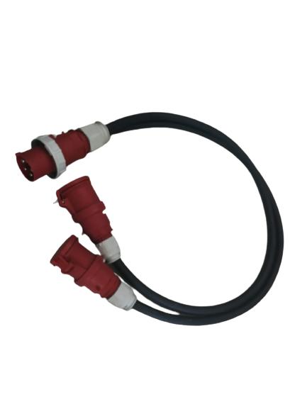 Prelungitor 25m cu cablu TITANEX 5x25 + conector si stecher de 125 la capete [0]