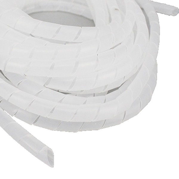 Organizator cabluri, spirala de matisat, cablu alb 10m, diametru 12 [0]