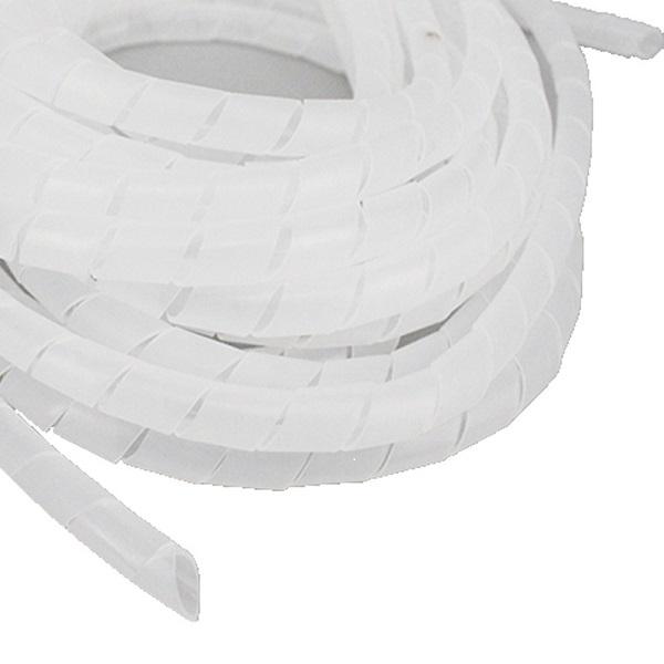 Organizator cabluri, spirala de matisat, cablu alb 10m, diametru 15mm [0]