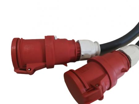 Prelungitor 25m cu cablu TITANEX 5x25 + conector si stecher de 125 la capete [3]