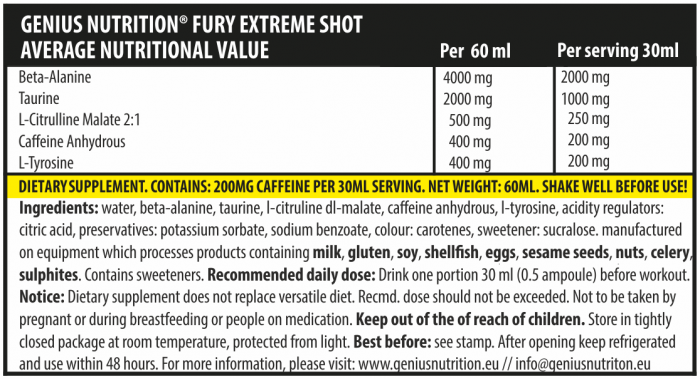 Fury Extreme Shot (2 servings/60ml) 2