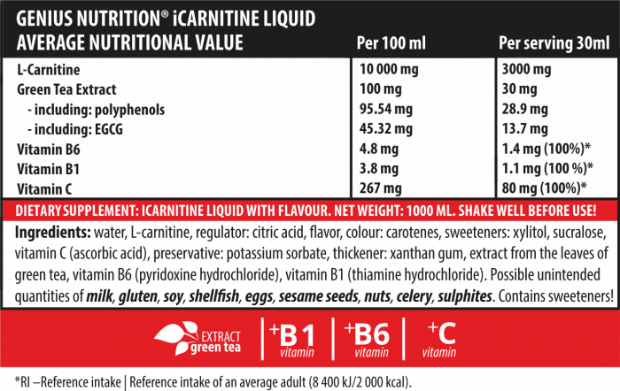 iCarnitine Liquid 1000ml 2