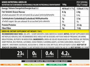 Green-HD (25 Servings/750g)1